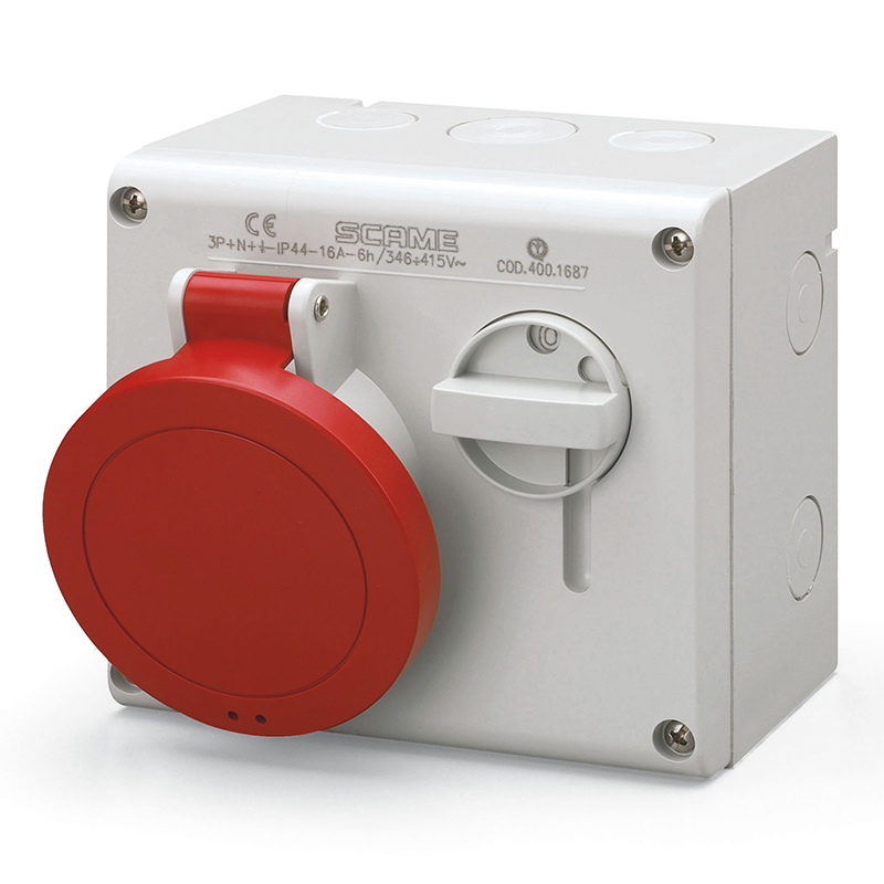 Scame Ip44 Omnia Series Interlocked Switch Socket Outlets